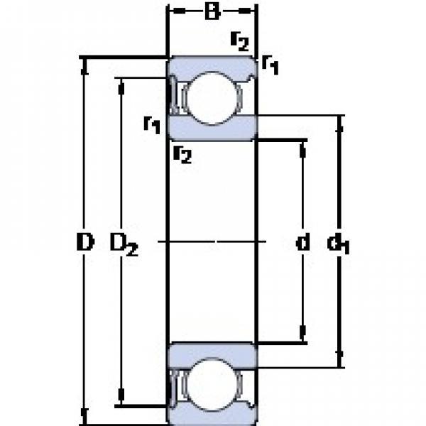 50 mm x 90 mm x 20 mm  SKF 6210-RS1 deep groove ball bearings #1 image
